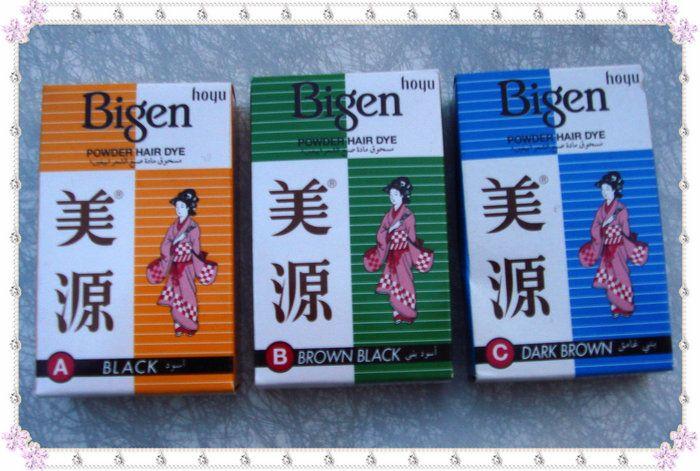Bigen Permanent poudre de teinture pour les cheveux pas d'ammoniac aucune d'hydrogène un noir B Brown noir C brun foncé HA01