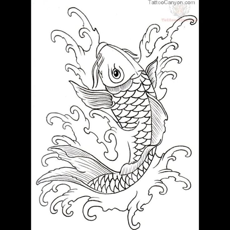 9541 koi outline tattoo designs tattoo design 1280x1280 for Goldfish tattoo meaning