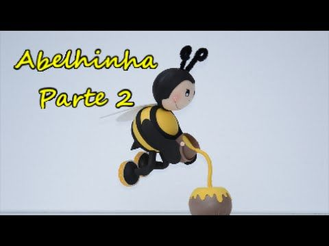2/2 Fofucha abelhinha voando. Passo a passo...... Feliz 2016 - YouTube