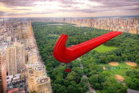 Nike balloon