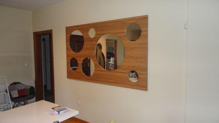 Καθρέφτης πλαίσιο μασίφ ξύλο και καπλαμά (σ.σ vrettos ) ΚΑΦΡΙΤΣΑΣ ΑΡΗΣ ΞΥΛΟΥΡΓΕΙΟ