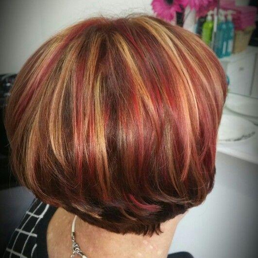 Hello Autumn! Golds reds and mahogany @tinamorganhair ❤ ❤ ❤