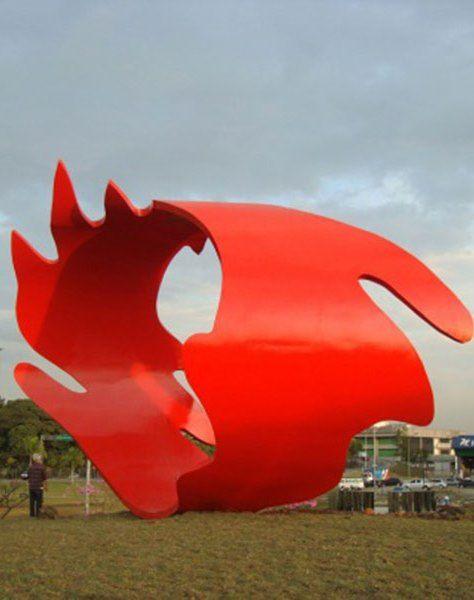 Tomie Ohtake, escultura, São Paulo, Brasil