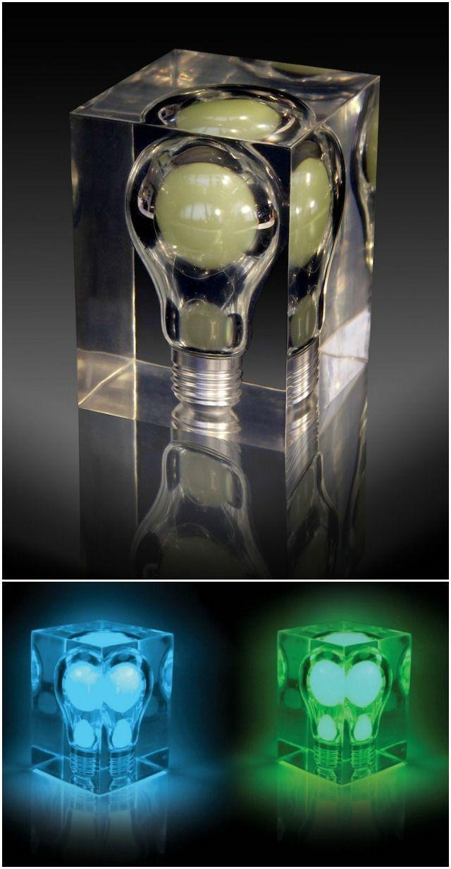 Glow In The Dark Bulb Cube Bulb Steampunk Lighting Glow In The Dark