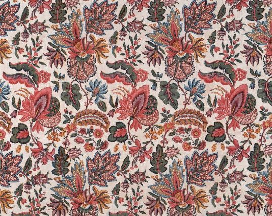 Printed cotton fabric France, 18th century Dimensions Legacy dimension: 0.85 x 0.87