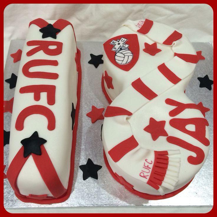 Rotherham United number 18 cake.