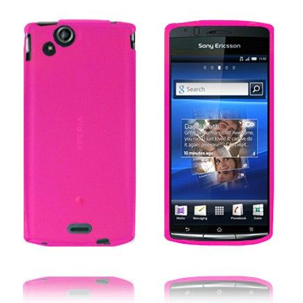 Soft Shell (Mørk Rosa) Sony Ericsson Xperia Arc Deksel