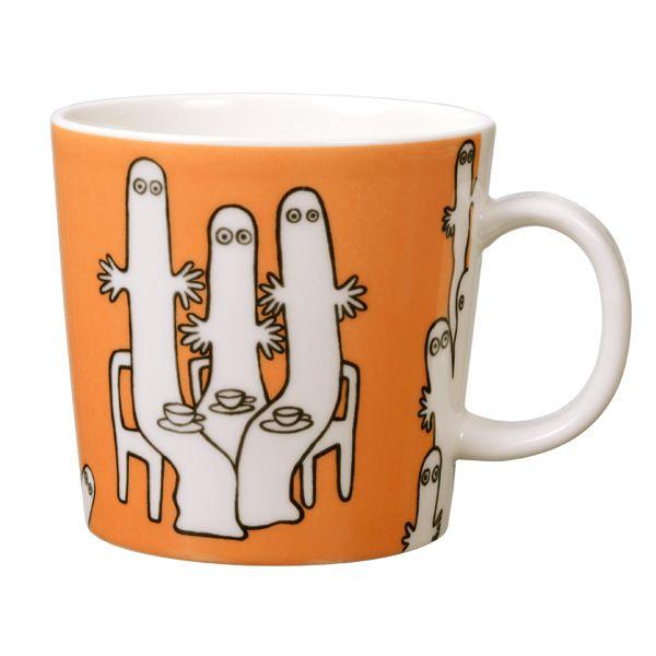 Moomin mug Hattifatteners, orange - Arabia Moomin - Dishware ...