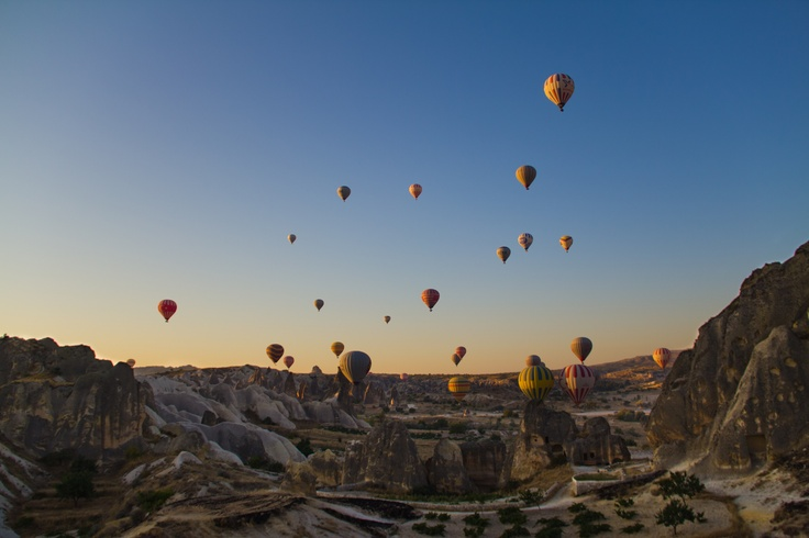 Sunrise in Capadocia, TURKEY