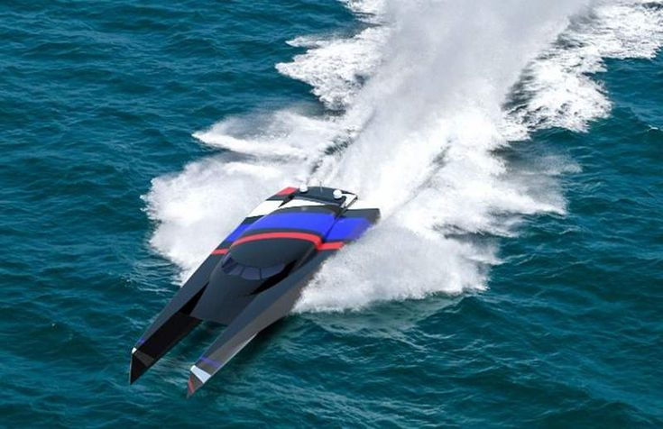 A wave-piercing powerboat will attempt to cross the Atlantic, by sailing from Cornwall to New York, in just 48 hours!Team Great Britain has designed a 112ft (34 metre) wave-piercing powerboat, that will try to