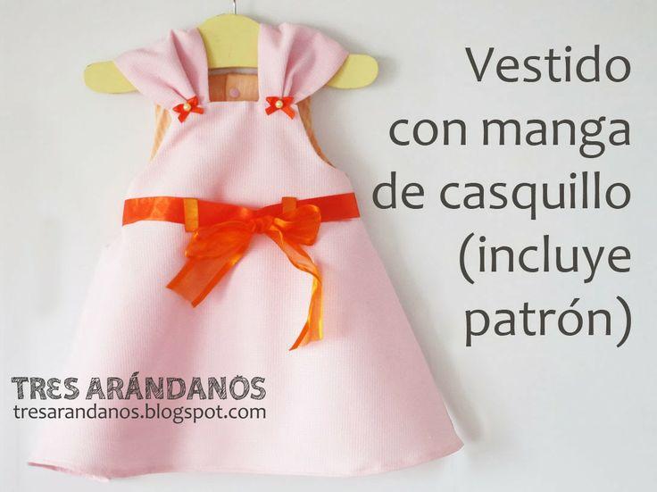 patron vestido niña gratis :) TresArandanos.blogspot.com #tresarandanos #patrones #patronesgratis #vestidos #bebe #nina