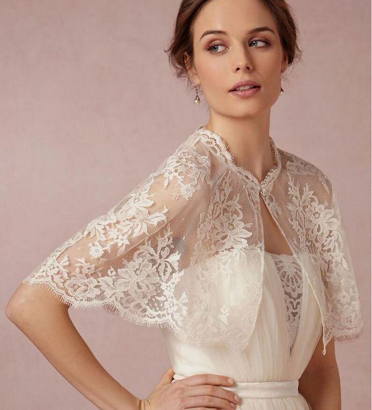 Hot Sale New Short Lace Wraps 2015 Bolero Wedding Jackets Appliques Bridal Sleeveless Bride Wraps From Blissangel, $9.43 | Dhgate.Com