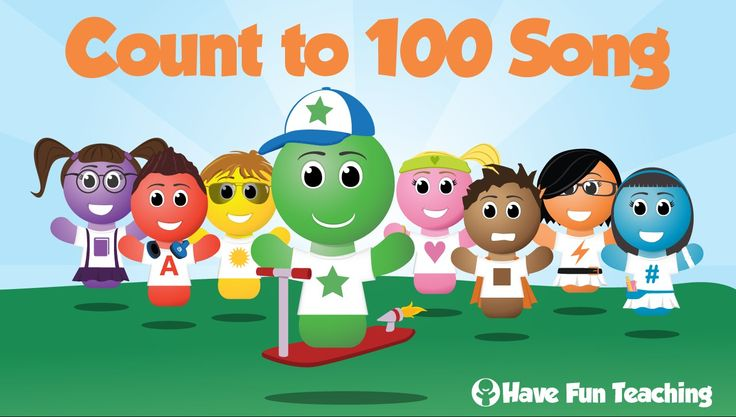 This is the Count to 100 Song by Have Fun Teaching! This Counting to 100 Song has no breaks and counts all the way from 1 to 100 without stopping. This is a ...