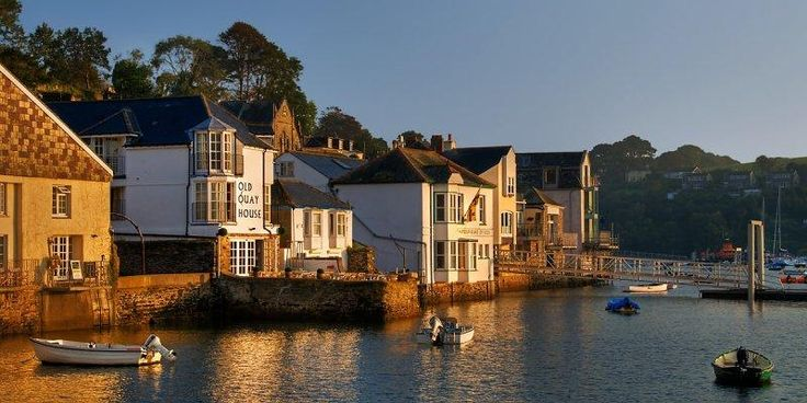 Early morning at the waterfront, Fowey, Cornwall England by Chris Spracklen