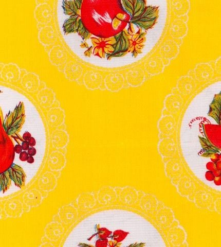 Doily Yellow Oilcloth By The Yard