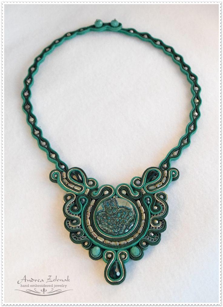Soutache necklace - Andrea Zelenak S0434