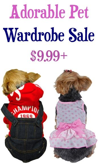 Adorable Pet Wardrobe Sale: $9.99+