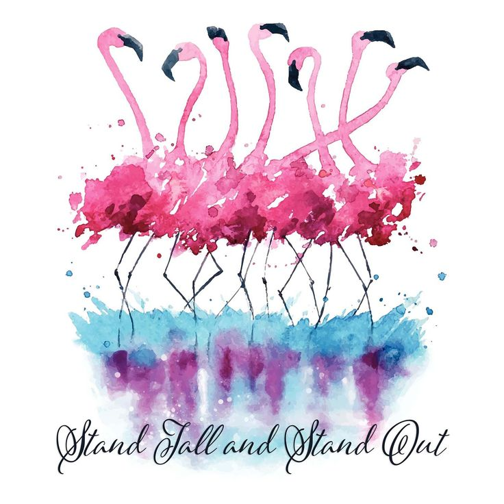 Pink Flamingo – Stand Tall & Stand Out Vinyl Print