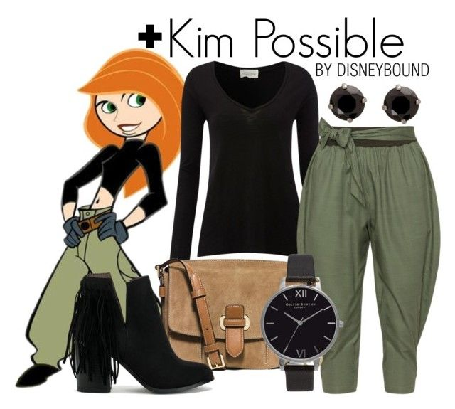 Kim Possible + by leslieakay on Polyvore featuring polyvore fashion style American Vintage Isolde Roth Nly Shoes MICHAEL Michael Kors Olivia Burton clothing disney disneybound