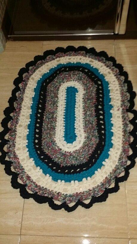 Mi primera alfombra de trapillo.