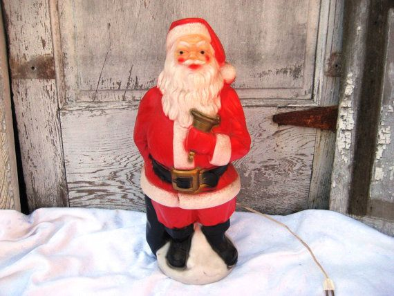 Celluloid plastic santa clause s lighted