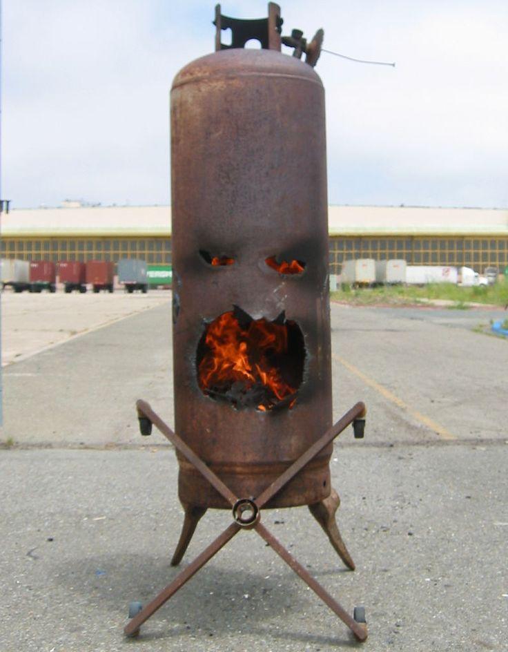 Old Propane Tank Firepit Diy Pinterest Fire Pits