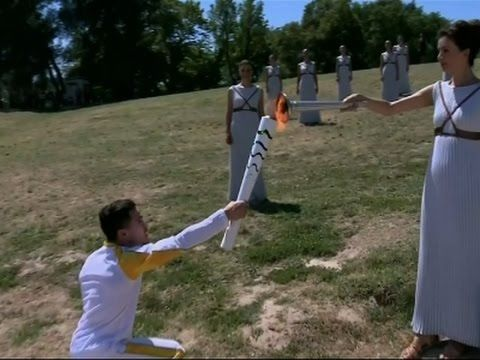 Raw: Olympic Flame Lit in Greece - YouTube