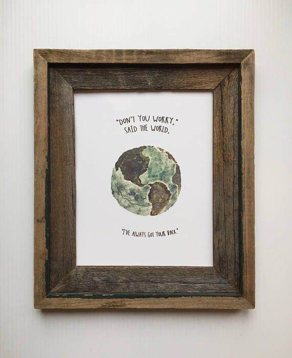 Motivational Quote Art/Earth Watercolor Print/Life Quote