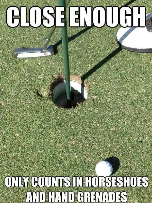 There's no close enough in golf!  I Rock Bottom Golf #rockbottomgolf