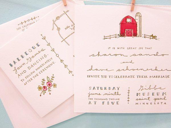 Wedding invitations from Printerette Press