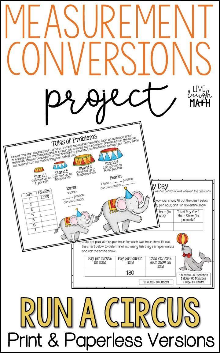 Measurement Conversions Project Distance Learning Math Enrichment Project Based Learning Math Math Projects Learning Math [ 1152 x 720 Pixel ]