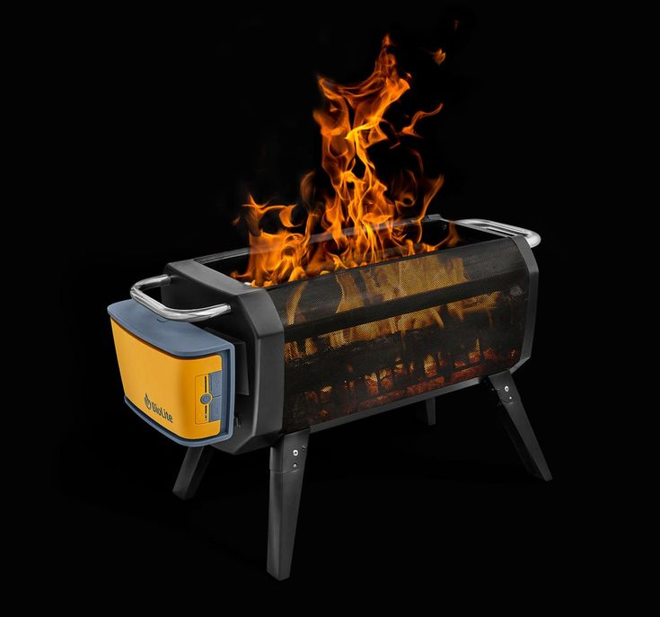 Portable Smokeless Wood Burning Firepit Fire Pit Fire Pit Decor Square Fire Pit