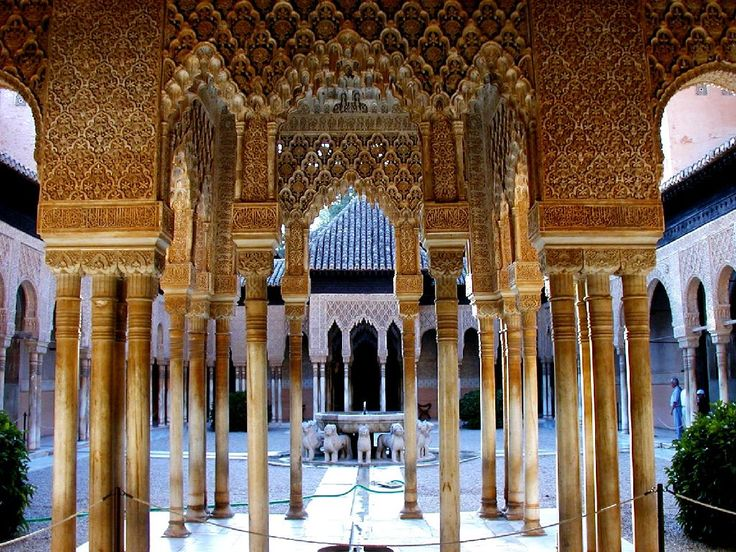 The tile work in the Alhambra in Spain is truly amazing.  Helped chaperone 20 high school students here several years ago.