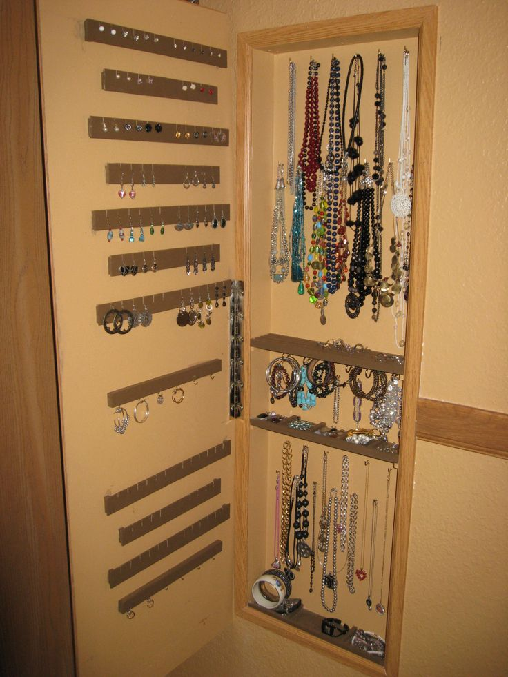 Lighting Basement Washroom Stairs: Jewelry Storage, Studs And The Wall On Pinterest