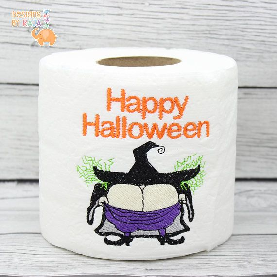 This cute witch is showing off her sass as well as her...Happy Halloween spirit! Perfect for any haunted or not so haunted house! This is a great gag gift, white elephant gift or gift just for fun. It is meant to be used as a bathroom decoration but in an emergency it could always be used for other purposes! ;) *Please note the design is not stitched onto every sheet and is only stitched on the one outer most sheet*  Love the design but not the colors? Thats fine too! Send me a convo before…