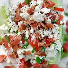 """Mad Men"" Menu: Bacon and Blue Cheese Wedge Salad"