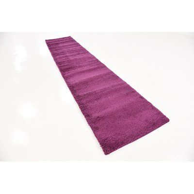 "Latitude Run Maxine Purple Area Rug Rug Size: Runner 2'7"" x 16'5"""