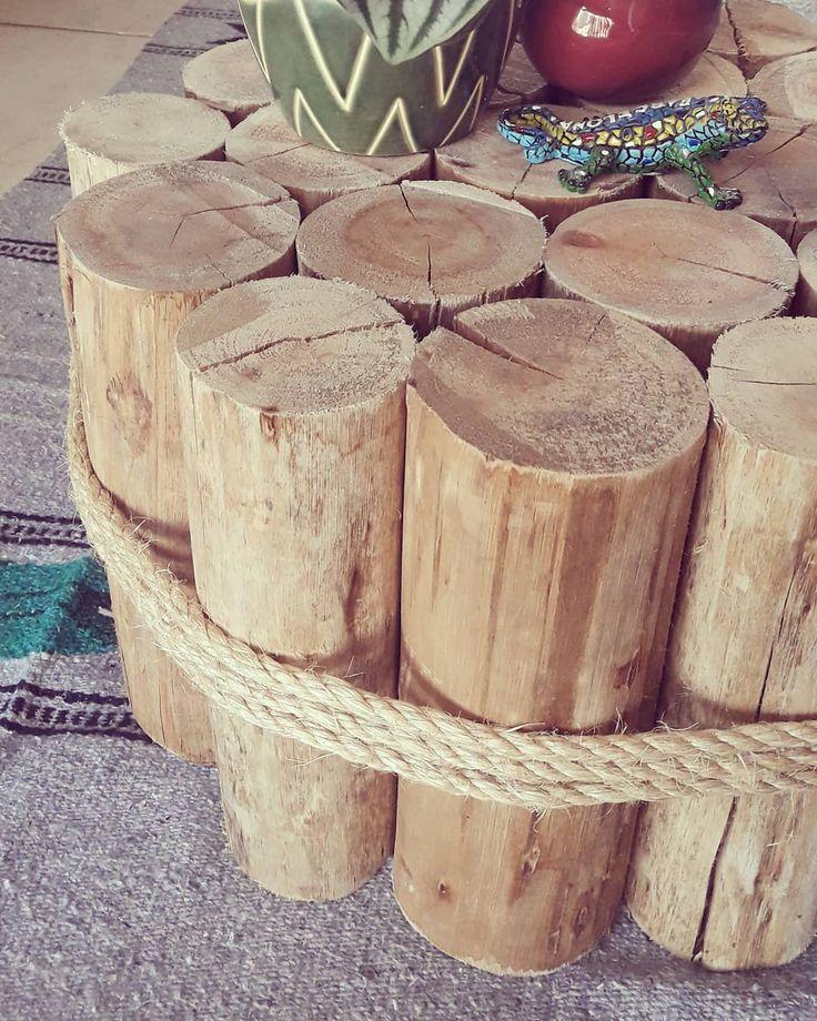 """Timber Table / GMZestudio (@gmzestudio) en Instagram: """"Coffe table lista / tirantes de eucalipto """""""