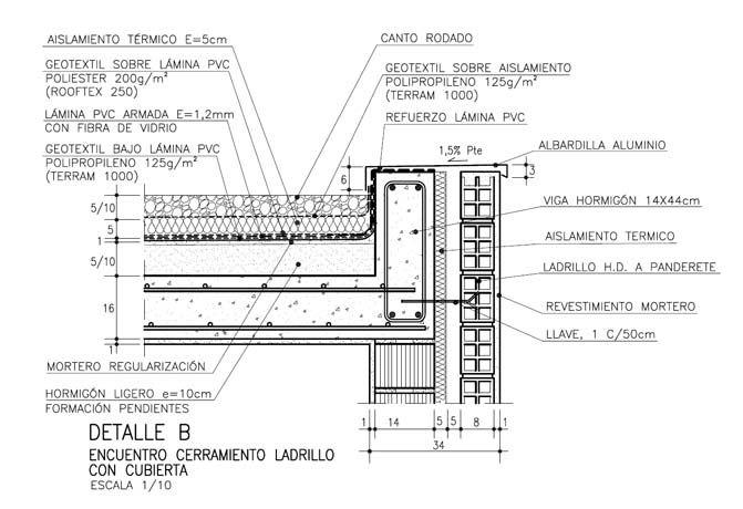 detalle constructivo de cubierta de losa de hormigon armado - Buscar con Google
