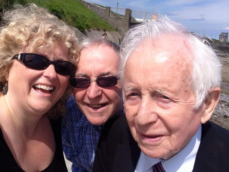 Dad, me, and big brother Ray at Malahide