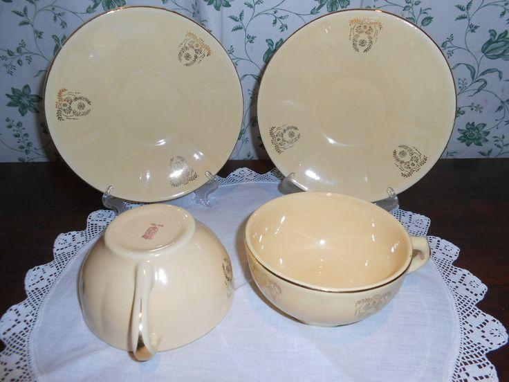 Coppia di tazze tè colazione ceramica LODI Vintage rare COLLEZIONE E 2 TOVAGLIE
