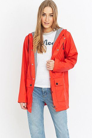 Petit Bateau Red Anorak - Urban Outfitters