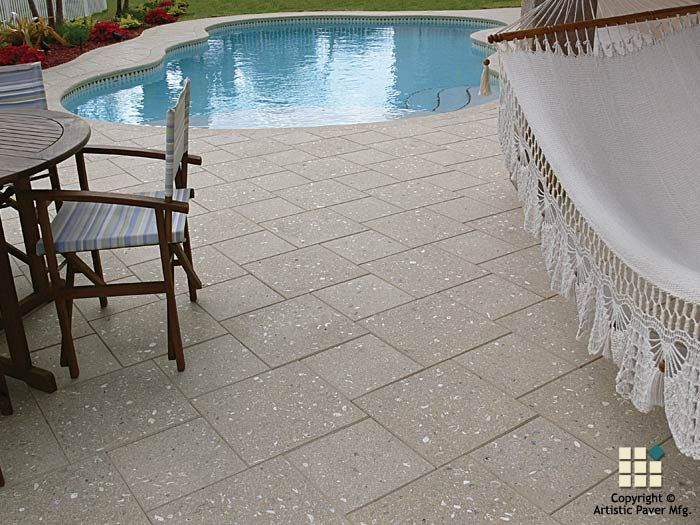 Artistic pavers photo gallery of pool decks driveways for Pool design pattern