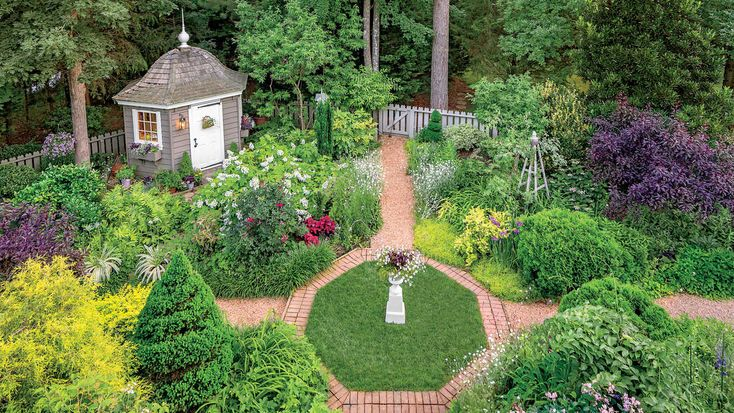 This romantic Virginia garden is inspired by English cottage style