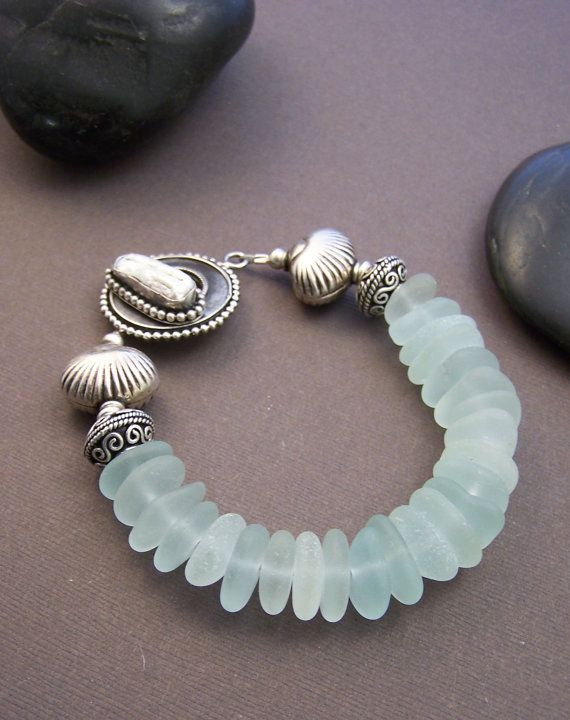 Cape Cod Bracelet Genuine Sea Glass with by StoneStreetStudio