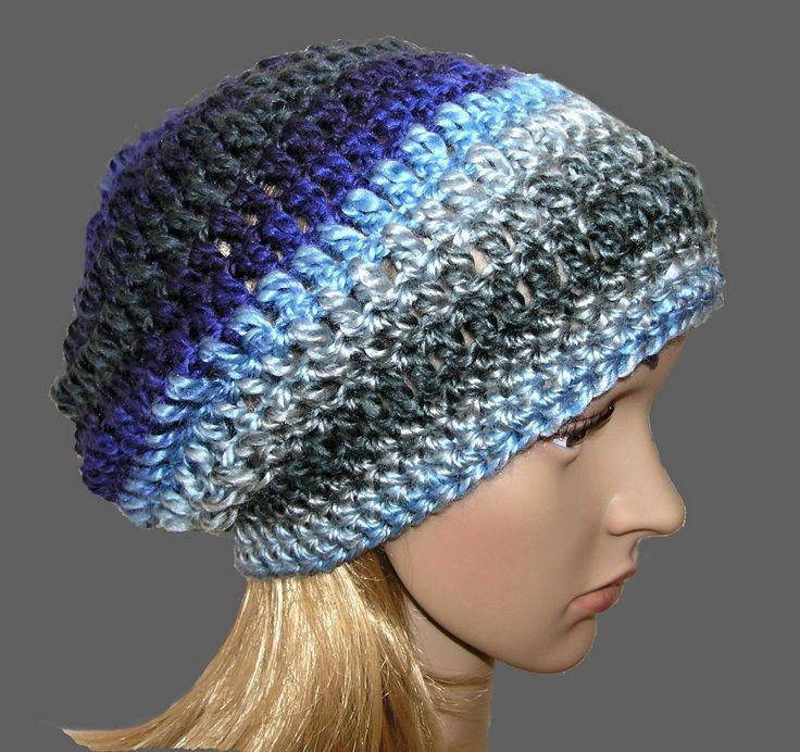 HÁČKOVANÁ+ČEPICE+-+HUČKA+Háčkovaná+čepice,+lehoučká,+hřejivá,+materiál+-+100%+acrylik.+Na+obvod+hlavy+cca+55-57+cm+Barvy+...mix+-petrolejová,+fialová,+lahvově+zelená,+světle+šedá,+modrá,+světle+modrá