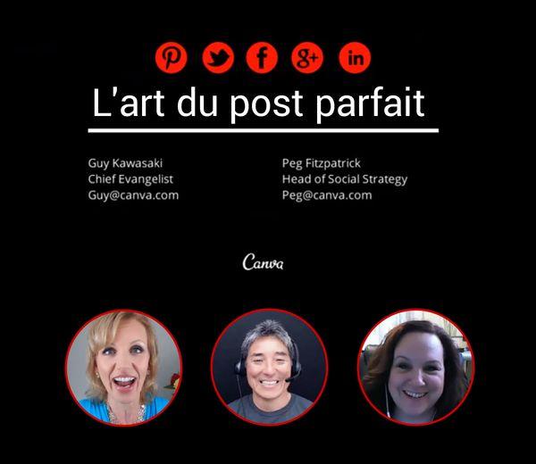"""Mari Smith, une des """"stars"""" du social media américaines a organisé un webinar avec Guy Kawasaki et Peg Fitzpatrick intitulé «How to create visual content that get results» (Comment créer des cont..."""