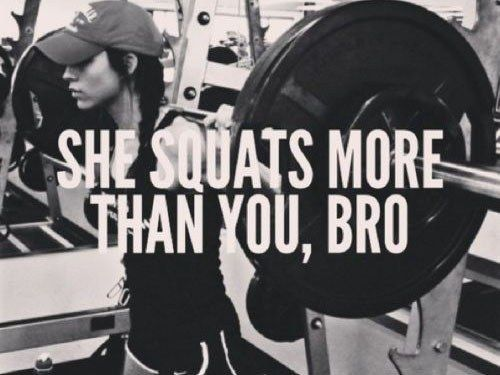While our guy friends find us ever so slightly intimidating. | 21 Secrets Girls Who Lift Won't Tell You