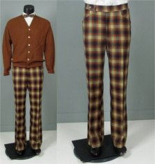 brown plaid pants - Pi Pants