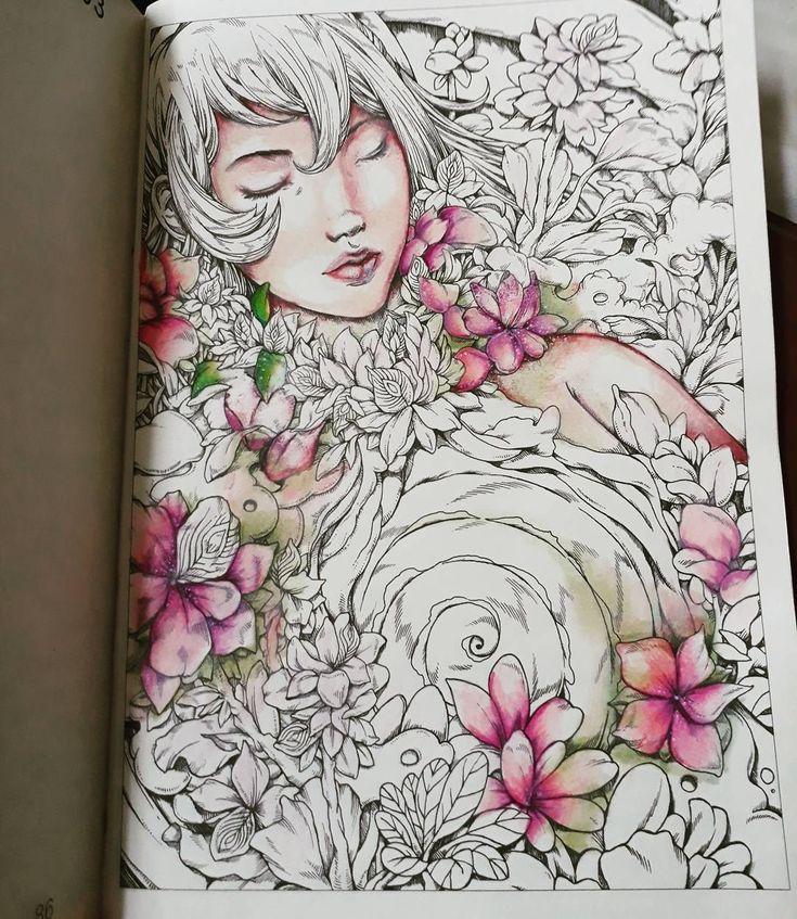 Wip  #eirene #nicholasfchandrawienata #adultcoloring #desenhoscolorir #coloringbook #coloringforadults #boracolorirtop #color #prismacolor #polychromos #posca